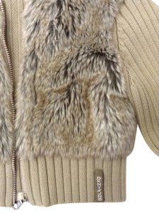 DKNY Fur Hooded Jacket Super Sweatshirt