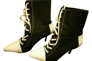 Converse Boot Black and White Boots