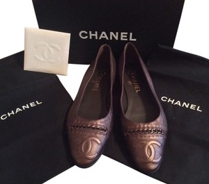 Chanel Bronze/brown Flats