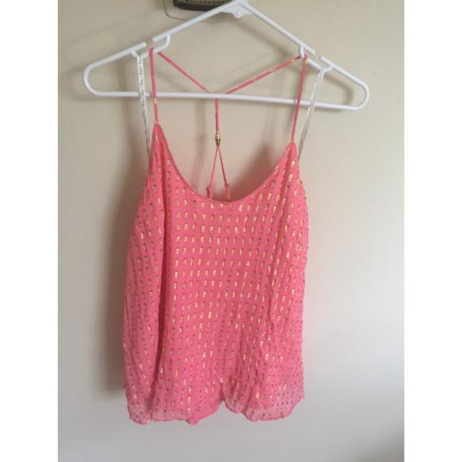 Item - Pink and Gold Tank Top/Cami Size 8 (M)