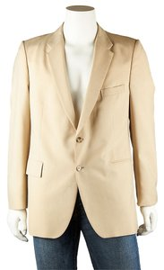 Saint Laurent Yves Wool Mens Cream Blazer