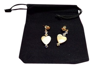 Other Handmade Mother of Pearl Heart Drop Earrings