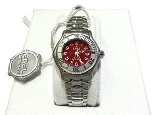 Ebel EBEL Discovery Red Dial Automatic Stainless Steel Ladies Watch