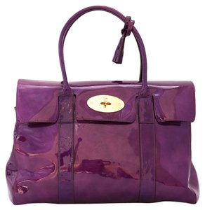 Mulberry Bayswater Patent Tote in Purple
