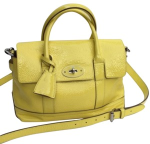 Mulberry Cross-body Bayswater Satchel in Yellow
