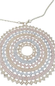 Tricolor Solid Gold Necklace