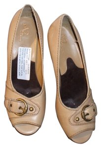 Aerosoles Vintage Vtg Heels 1980s Mod Hipster Career Like New Unworn Beige Pumps