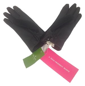 Kate Spade Kate Spade Black Leather Gloves Tech Touch