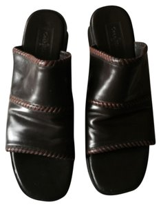 Cole Haan Black and Brown Mules