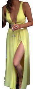 Other Gown Slit Summer Gold Dress