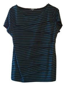 Ami Free Shipping Striped Sleeve Verve By Size Xl Verve Blue Wrap Stretchy Xl Soft New T Shirt Black Teal