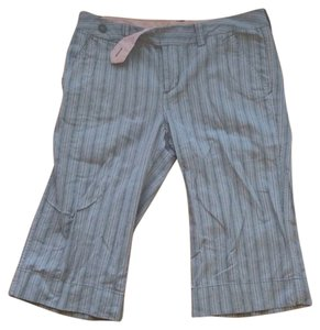 Urban Outfitters Pinstripe Capris Brown & Tan