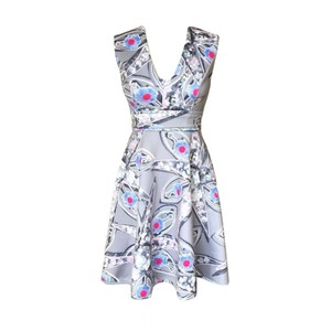 Cynthia Rowley short dress multi color Sleeveless Fit And Flare Multi on Tradesy