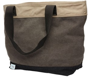 TOMS Transport Blocked Canvas Tote in Charcoal