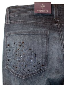 NYDJ Crystal Embellished Boot Cut Jeans-Medium Wash
