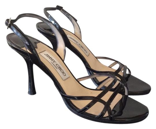 Jimmy Choo Patent Leather Black Sandals