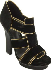 Tory Burch Black/Gold Sandals
