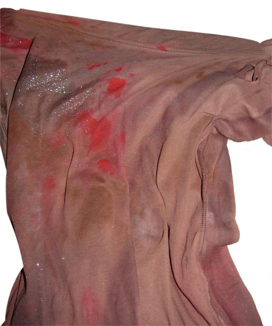 Other Zombie T Op Ank Living Dead Girl Costume Halloween Stage Theater Band T Shirt rust w/ faux blood paint