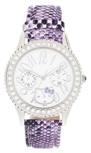 Hello Kitty Hello Kitty Women's Faux Python Rubber Strap Watch Purple
