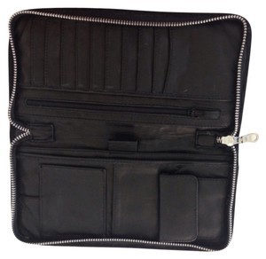 Passport Travel Black Suede Travel Bag