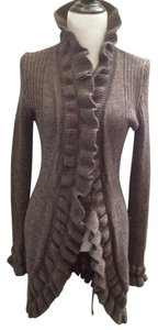 Elisabetta Mohair Long Chic Italy Knitted Warm Work Office Winter Fall European Cardigan