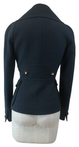 Givenchy Fitted Wool Gold Buttons Notched Collar black Blazer