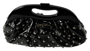 Betsey Johnson black and silver tone Clutch