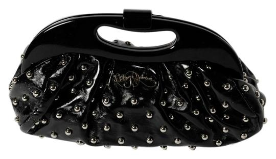 Betsey Johnson Purse Shoulder black and silver tone Clutch