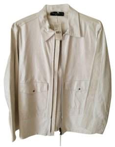 Kenneth Cole White Leather Jacket