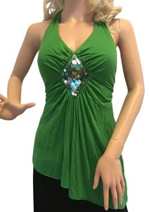 Anna Paul Green Halter Top