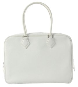 Hermès White Plume 32 Leather Hr.j0626.04 Satchel