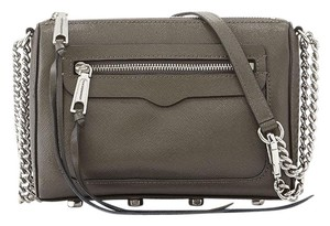 Rebecca Minkoff Saffiano Leather Grey Cross Body Bag