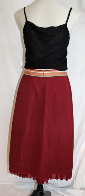 Anthropologie Skirt Dark Red