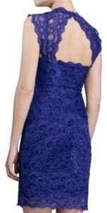 Nicole Miller - Brand New Lace Cocktail Formal Open Back Cobalt Blue Dress