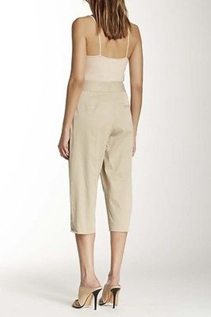 L'AGENCE Womens Khaki Stretch Pleated Front Capri Cropped School Boy Pants