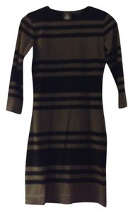 French Connection Bodycon Bold Stripe Stretchy Dress