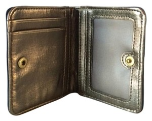 Fossil Fossil Blue and Gold ID Leather Wallet