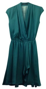 Vertigo short dress Teal Drop Waist Flowy V-neck Party on Tradesy