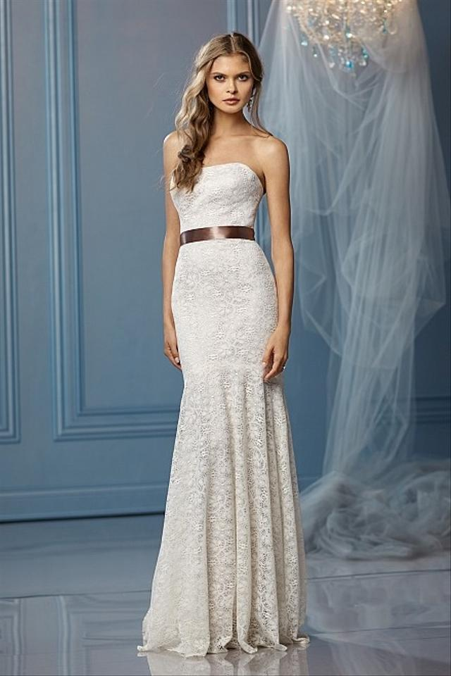 Wtoo Taupe/Ivory Lace Belize Destination Wedding Dress Size 10 (M ...