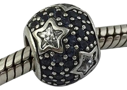 PANDORA Pandora Follow The Stars Midnight Blue Silver Bead Charm 791382cz