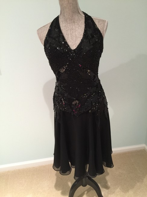 Other Evening Sequined Cocktail Halter Size 6 Dress