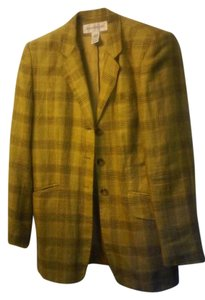 Jones New York yellow multi colored plaid Blazer