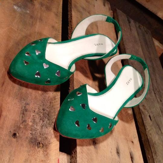 Marc Jacobs Vintage Flats Green Pumps