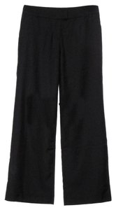 Garnet Hill New Without Tags Wool Blend Trouser Pants Black
