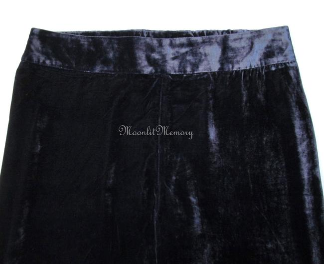 Soft Surroundings New Without Tags Velvet Silk Rayon Slacks Elastic Leg Size On Label: Xl Straight Pants Blue-Purple