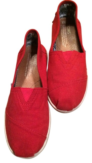 Item - Red White Youth 3.5 Flats Size US 4