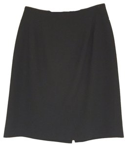 Liz Claiborne Size 6 (s 100% Wool Skirt Black