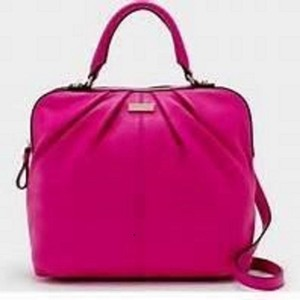 Kate Spade Bright Pink Teen Cas7710 Gold Hardware Gift Satchel in Fuchsia