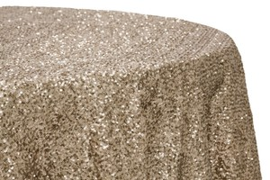 Champagne Sequin Tablecloth 120