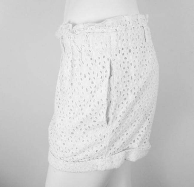 Kimchi Blue Urban Outfitters Elastic Waist Lace Dainty Shorts White
